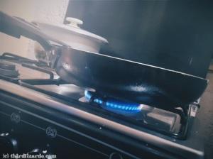 2 Heat pan and set to medium low