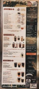Coffeebreak Vigan menu