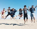 Jump-shot taken by the driver at Sand Dunes