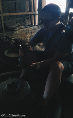 Trying pot-making